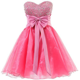 junior dresses graduation 2016 free shipping pretty dresses for girls  beaded bow corset homecoming LVNLFCW
