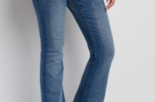 kaylee two button flare jeans in medium wash QLSAPGY