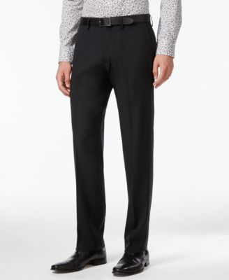 kenneth cole reaction straight-fit stretch gabardine solid dress pants KKXPRZW