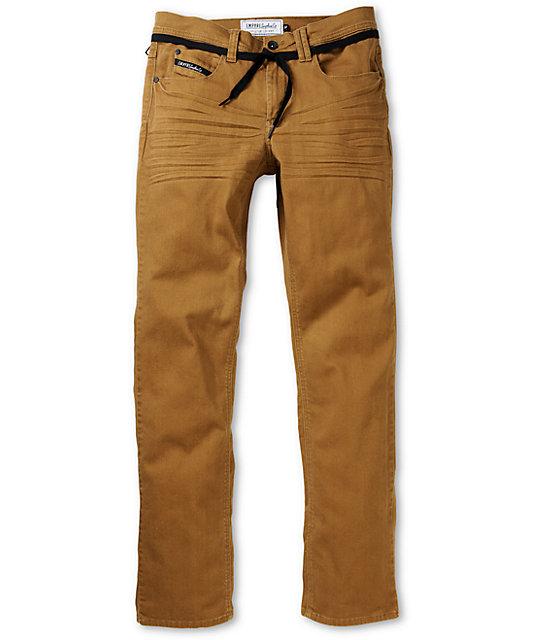khaki jeans empyre skeletor dark khaki skinny fit jeans RDRXKLC
