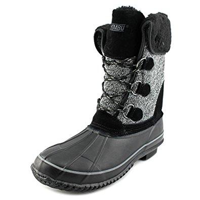 khombu boots khombu maya women us 5 black snow boot APJFGBN