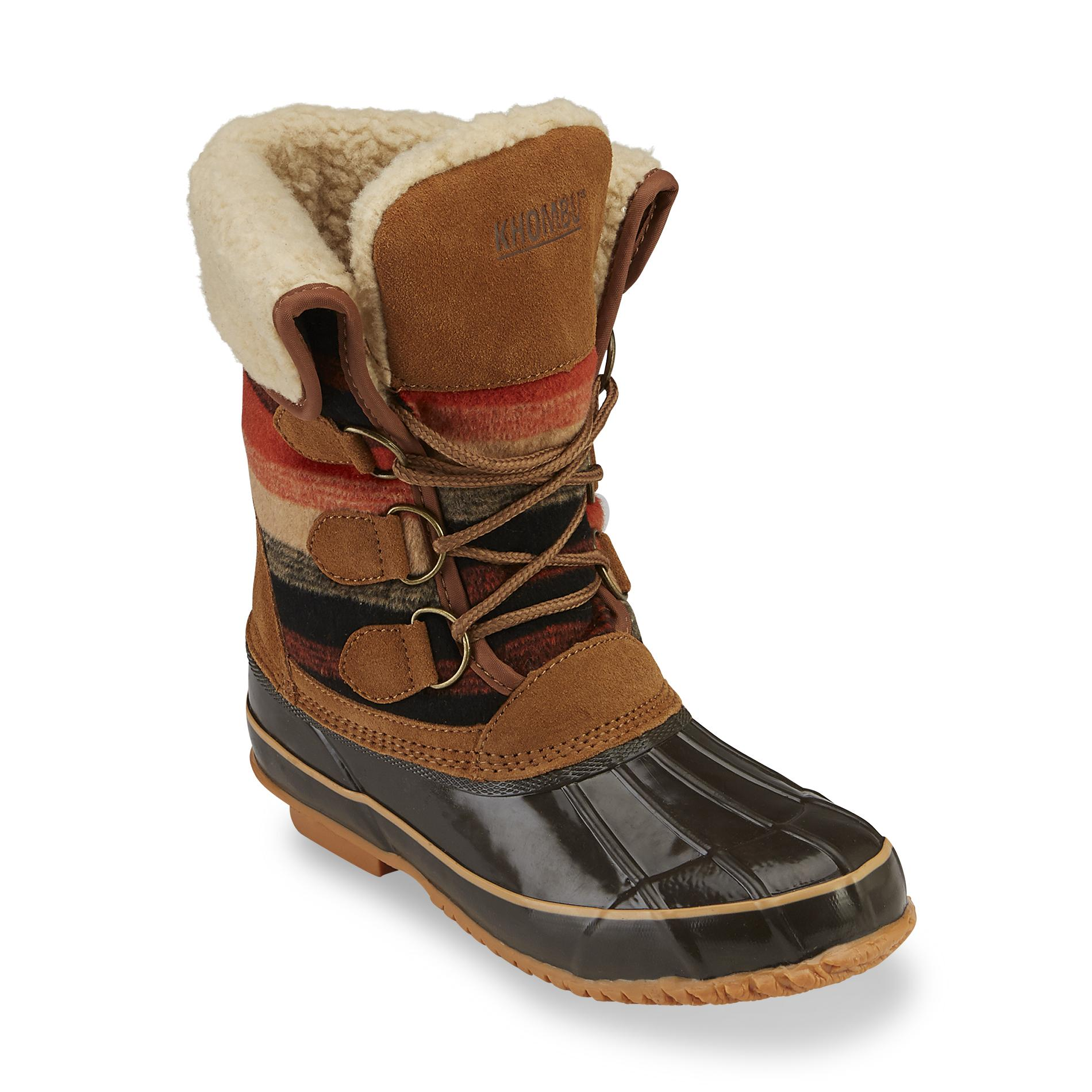 khombu boots khombu womenu0027s jilly brown/multicolor waterproof winter boot PDCHJIX