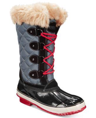 khombu boots khombu womenu0027s melanie lace-up faux-fur boots MAIURJU