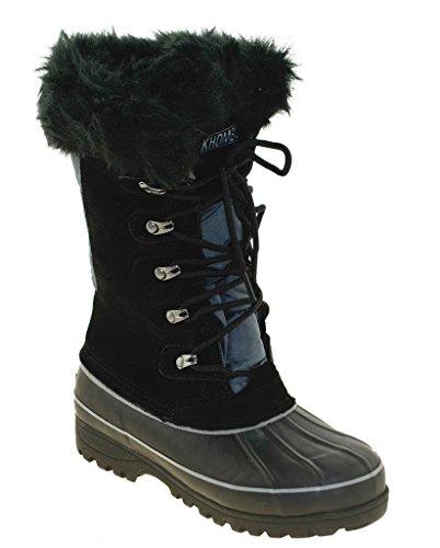 khombu boots khombu womenu0027s nordic boot, black, ... JIEBCEO