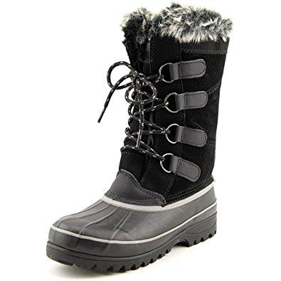 khombu boots womenu0027s khombu north star thermolite winter snow boots black 6m ONZMUSO