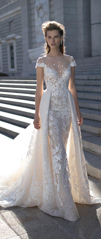lace wedding gowns designer:riki dalal lace wedding dress by berta spring 2016 OAVFZEQ