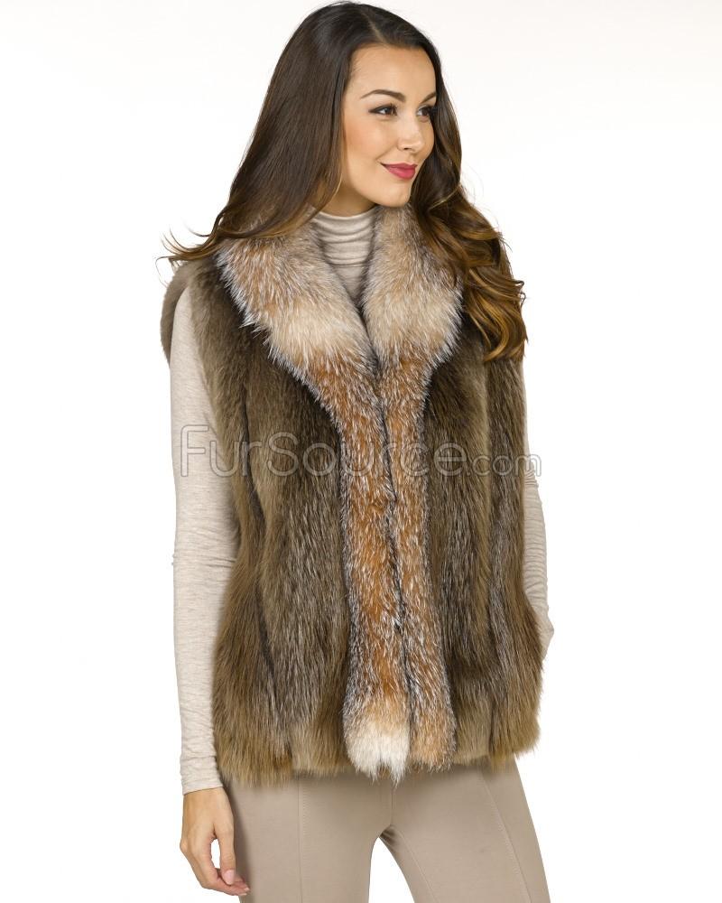 ladies beaver fur vest GEJYWCW