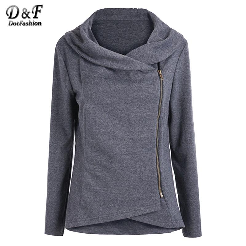 ladies jackets autumn jackets newest 2016 korean designer lady high street long sleeve  asymmetrical zip short RZRMJTV