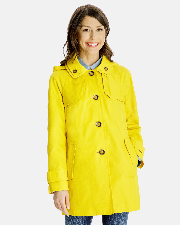 ladies raincoats bridget walker coat with removable hood WXBZAGR