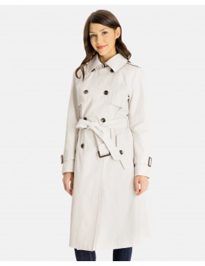 ladies raincoats fern double-breasted trench coat with front gun flaps MXIARRF