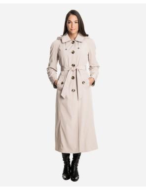 ladies raincoats sophia long raincoat with detachable hood u0026 liner WTUOSBD