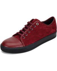 lanvin sneakers lanvin | menu0027s cap-toe leather low-top sneaker | lyst YGGVJKX