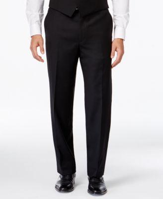 lauren ralph lauren black solid classic-fit dress pants PERZVPC