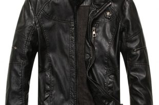 leather coats chouyatou menu0027s vintage stand collar pu leather jacket at amazon menu0027s  clothing store: MGDQCUG