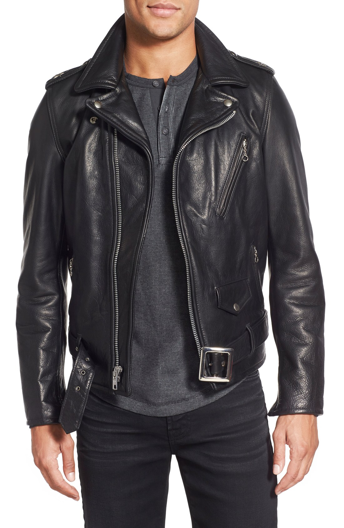 leather coats schott nyc perfecto waxy leather moto jacket | nordstrom EGRCYKY