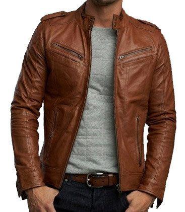 leather jackets for men handmade men brown biker leather jacket men IEGEHSK
