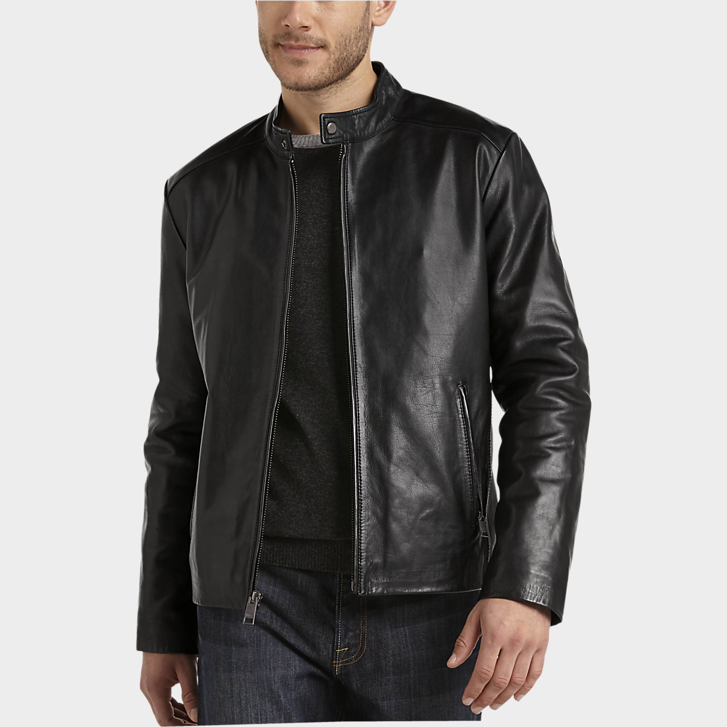 leather jackets for men marc new york black leather modern fit motorcycle jacket XPLGFHD