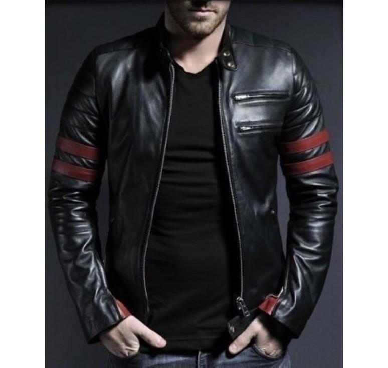 leather jackets for men men s new black genuine lambskin leather stylish motorcycle jacket SOTTKUP