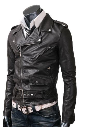 leather jackets for men mens belted jacket BQBRIAR