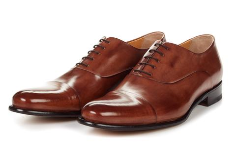 leather shoes the cagney cap-toe oxford - marrone EESVIQX