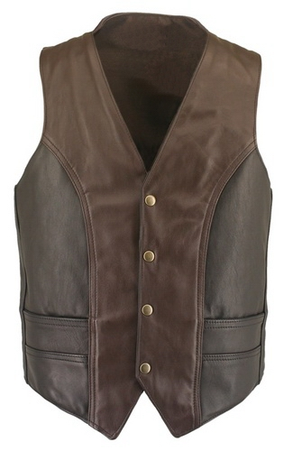 leather vest brown leather vests EOXXYFK