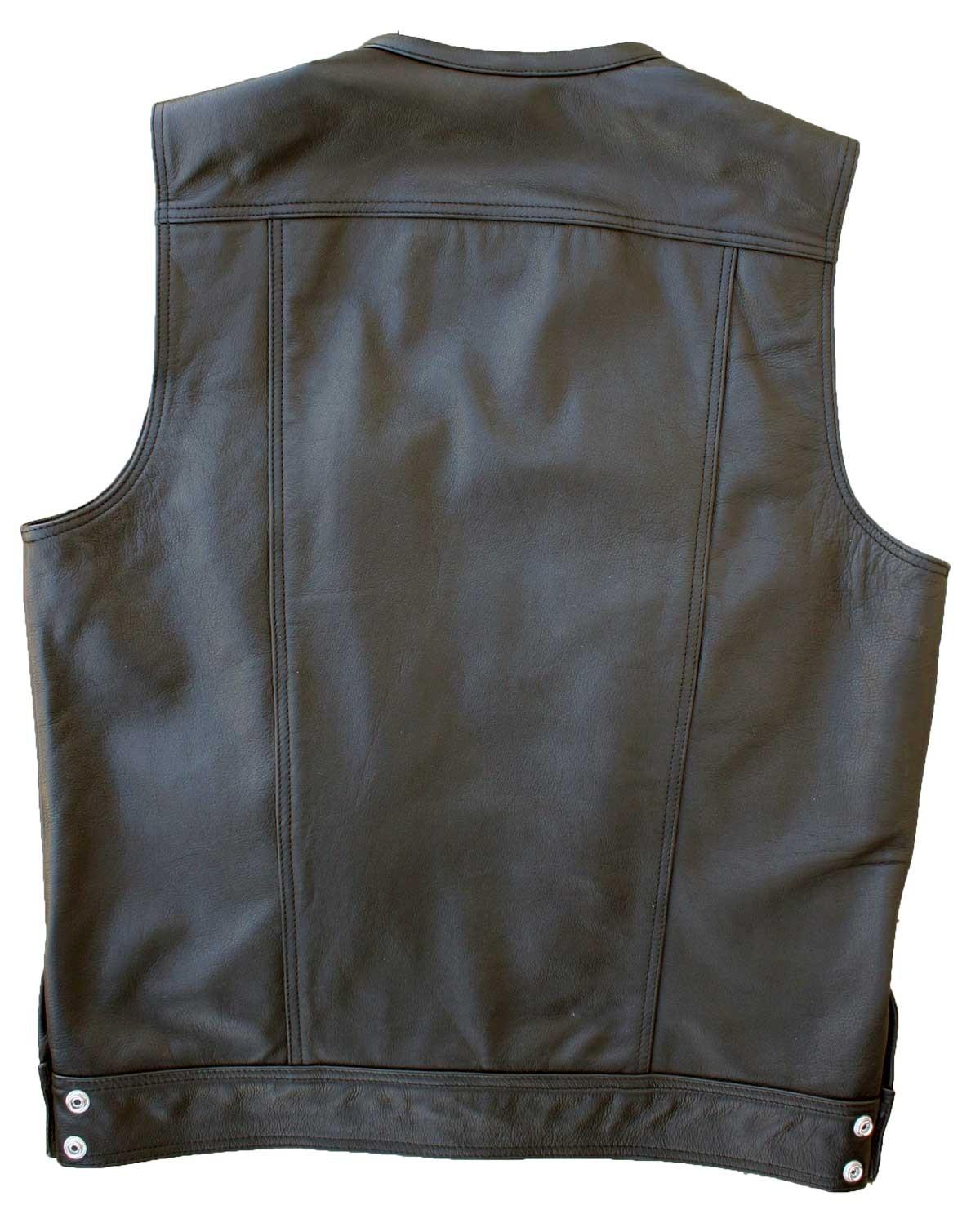 leather vest dirty cop motorcycle vest NISRUQI
