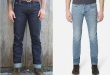 left: dyer u0026 jenkins raw denim. right: baldwin washed denim GTYDWQZ