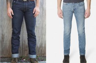 left: dyer u0026 jenkins raw denim. right: baldwin washed denim GTYDWQZ
