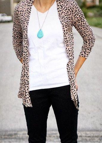 leopard cardigan classic leopard print cardigan LGDEZYO