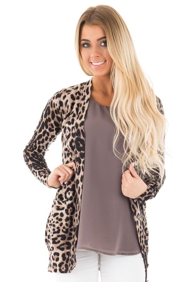 leopard cardigan leopard print long cardigan VZPTNQJ