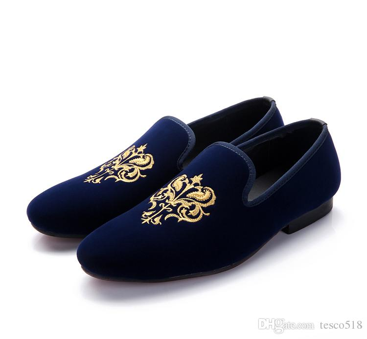 loafers for men hot fashion men loafers classic velvet embroidery flat shoes vintage menu0027s  flats brand mens NDSYVQY