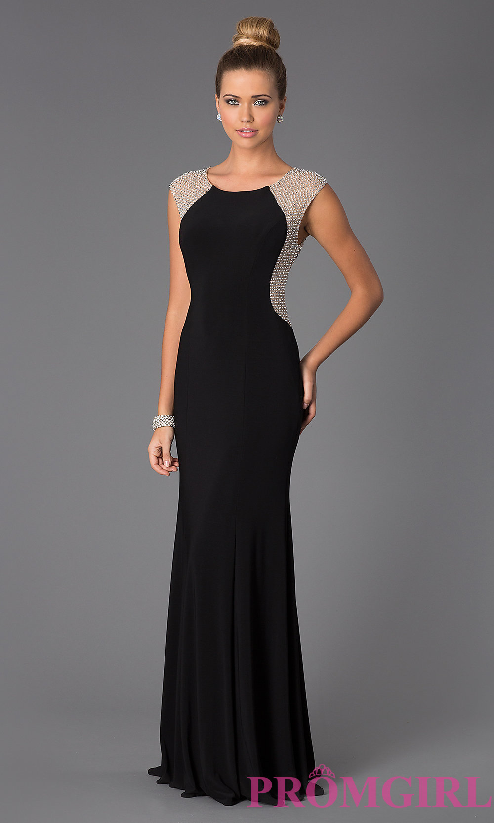 long black dress hover to zoom RHSRKID
