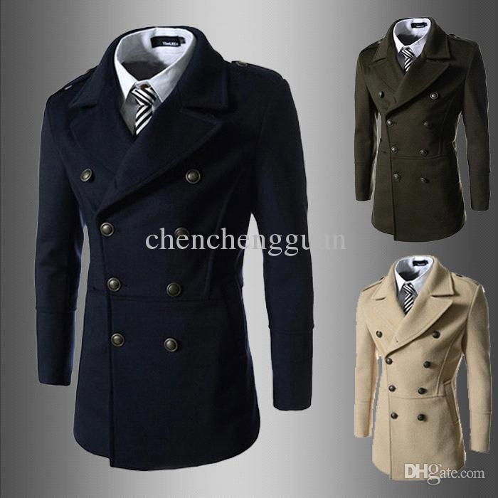 long coats for men 2017 menu0027s winter jacket long mens cashmere coat for men black camel wool  peacoat NLWJQMW
