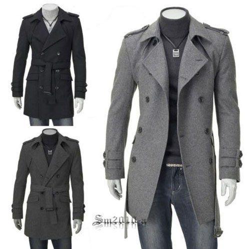 long coats for men cheap QROSOJI