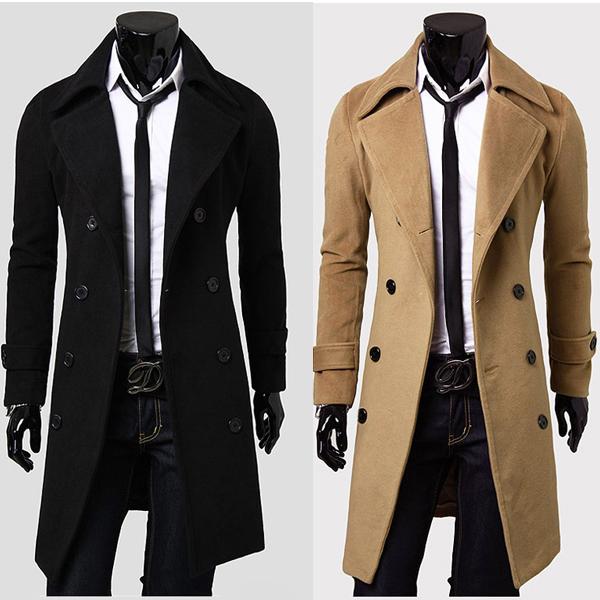 long coats for men stylish double breasted overcoat men long trench winter coat VCMTQAP