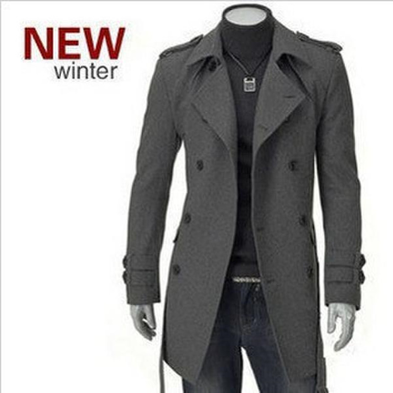 long coats for men the new winter coat fashion coat badges in the long section double-breasted  coat menu0027s BTNDNPP