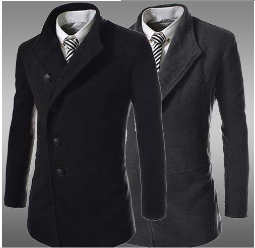 long coats for men top fashion 2014 new men autumn- winter jacket casual trench coat men long  coats TFSNDRL