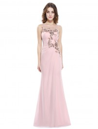 long evening dresses long evening dress with embellished bust and thigh high slit ZERVFZA