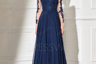 long evening dresses picture: dresswe.com supplies elegant sheer long sleeve applique floor  length long evening dress evening QJNRXHO