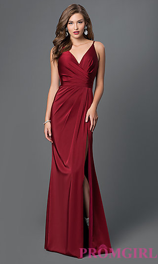 long prom dresses faviana v-neck open back long dress-promgirl RGJSAHO