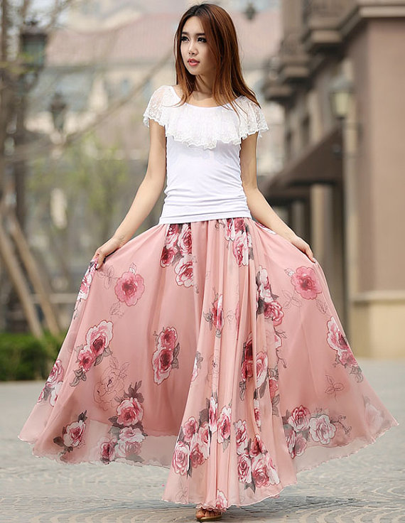 long skirts for women linen skirt, maxi skirt, green skirt, casual skirt, womens long skirts,  pleated skirt, custom QWJUOXY