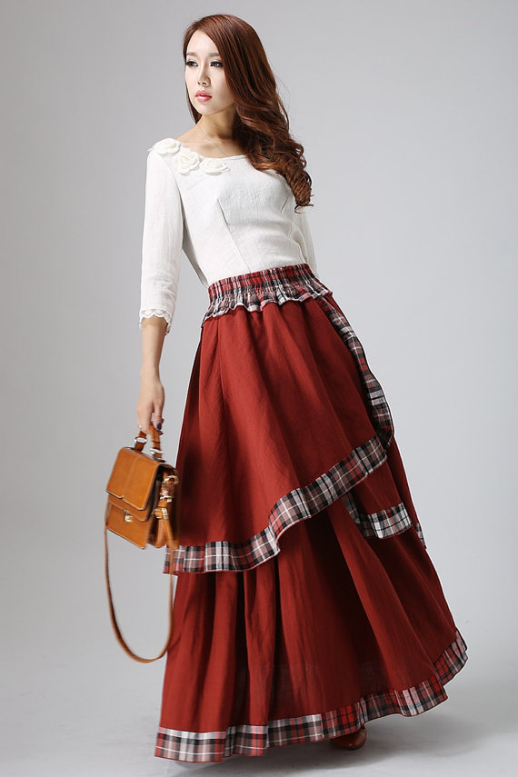 The heart pounding effects of the long skirts for women