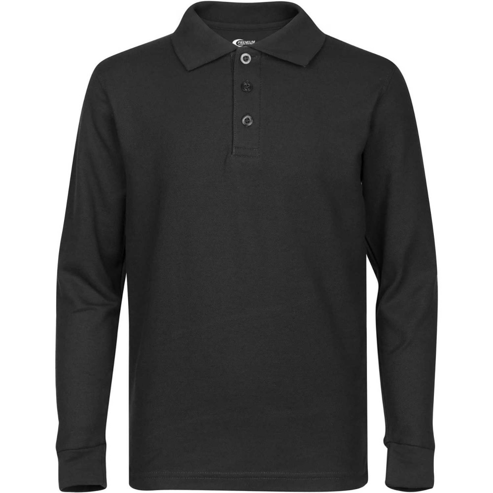 long sleeve polo shirts ... boys long sleeve polo shirt ... ODNKITB