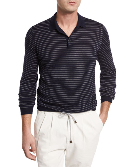 Look stylish with Long sleeve polo shirt