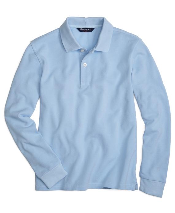 long sleeve polo shirts long-sleeve polo shirt light blue MULMVQZ