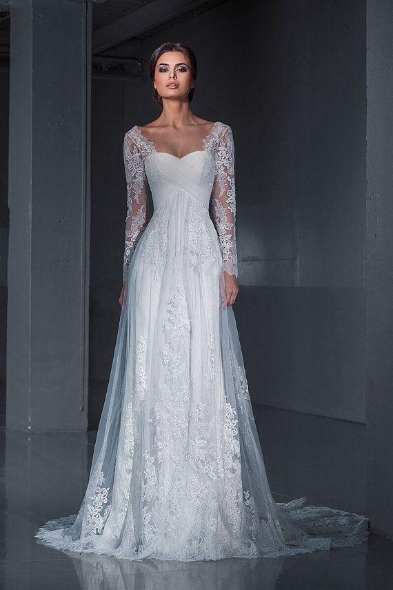 long sleeved wedding dresses 25 stunning lace wedding dresses ideas INPMMRD