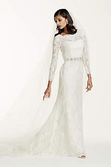 long sleeved wedding dresses long sheath wedding dress - galina signature FRJBSUM