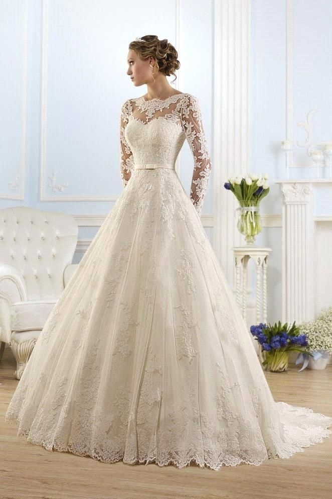 long sleeved wedding dresses new arrival fashionable scoop long sleeve wedding dresses appliques lace  backless bridal gowns ll0055 RLWLGDU