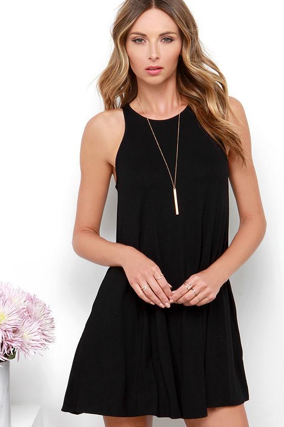 lulus. tupelo honey black dress SYJICXZ