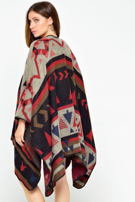 lydia aztec print blanket wrap DOXHOJJ